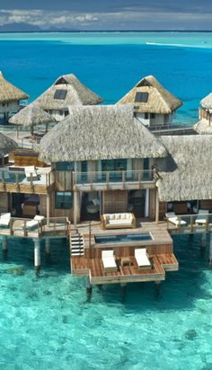 The largest unit at the Hilton Bora Bora Nui Resort, the Presidential Villa has its own Jacuzzi, sauna and swimming pool.