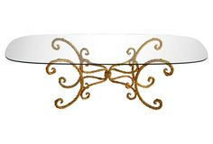 Gilded Faux-Rope Cocktail Table