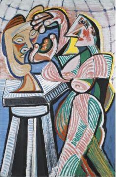 Emil Filla (Czech 1882–1953) [Cubism, Modernism, Osma] Sculptress in the Studio.