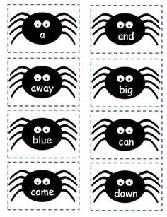 free ghost sight word game pre primer dolch word list reading word work and spelling resources for the primary grades pinterest words - Halloween Word Game