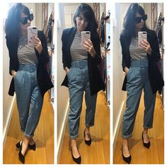 Look Blazer, Office Looks, Work Looks, Mix N Match, Formal, What To Wear, Capri Pants, Fashion Looks, Clothes For Women