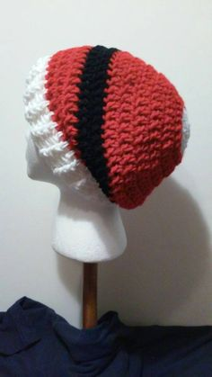 Check out this item in my Etsy shop https://www.etsy.com/listing/242896555/red-white-and-black-crochet-slouchy