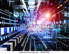 energy access with blue grid images as information highway background | Interplay Of Technological Background And Abstract Elements In Three ...