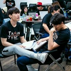 ― Tharntype( 「Mew, why are you keeping ur heavy legs on ur Yai Nong's thighs?🤔🤔 Oh I forgot that he has some…」 My Life Movie, The Moon Is Beautiful, Powerful Love Spells, Cute Gay Couples, Body Reference, Thai Drama, Handsome Actors, Drama Series, Asian Actors