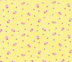 MODA FIRST ROMANCE 100% cotton fabric by the yard - called Honey Bun - Yellow #ModaFabrics