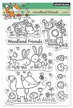 Woodland Friends - Clear Stamp