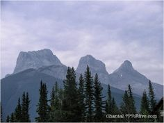 The Three Sisters in the Canadian Rocky Mountains