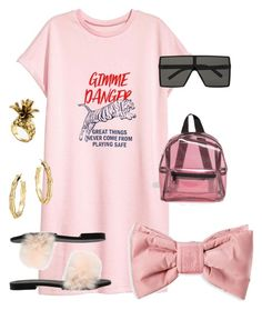 """""""#pink #summer #style #shirtdress #fashion #polyvore #design #love"""" by luciargx ❤ liked on Polyvore featuring Yves Saint Laurent, Missguided, Puma, Avec Modération, Ann Taylor and John Hardy"""
