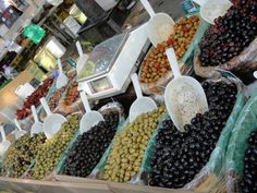 Olives at the open air market in Arles.