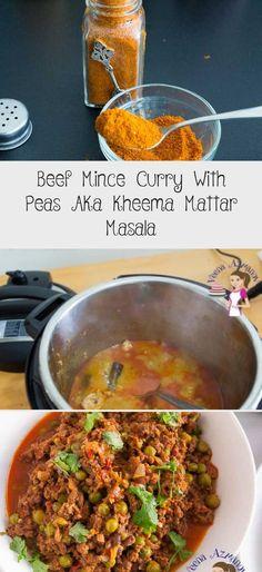 Beef Mince Curry With Peas Aka Kheema Mattar Masala - Recipes For Kids Masala Spice, Garam Masala, Minced Beef Curry, Homemade Curry Powder, Prawn Masala, Chapati Recipes, Minced Meat Recipe, Mince Recipes, Indian Food Recipes