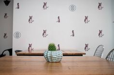 The Good Luck Club, a noodle bar in Johannesburg, looks just as good as their food tastes. CI by Nicolas Christowotz and cat wallpaper by owners Shane & Angie Durrant.