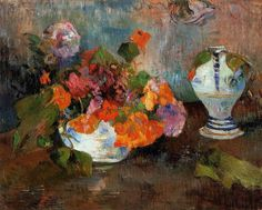 Paul Gauguin (French, 1848-1903),The Vase of Nasturtiums, 1886. Oil on canvas,National Gallery of Canada, Ottawa, Canada.