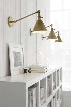 "Boston Functional Single Arm Library Light in Antique Nickel Visual Comfort. Designer: E. F. Chapman Height: 11.5"" Extension: 17.5"" Backplate: 4.75"" Round Socket: E26 Hi-Lo Wattage: 60 A Cord Cover Included"