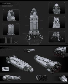 Realistic Spaceship Illustrations - Cyrano by KaranaK On the Mohs Scale of SF. Spaceship Art, Spaceship Design, Concept Ships, Concept Art, Kerbal Space Program, Cyberpunk, Starship Concept, Sci Fi Spaceships, Space Engineers
