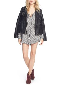 On trend: biker-chic leather jackets that make it easy to layer.