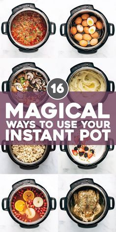 16 Magical Ways to Use Your Instant Pot! From soups, to yogurt, to snacks, to drinks: it does it all! One of our favorite all-purpose kitchen gadgets. #instantpot #cooking #holidays #mealprep | pinchofyum.com...
