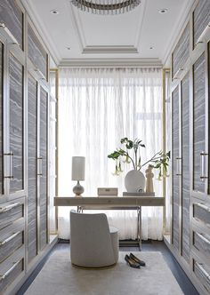 Walking wardrobe goals ♥️(minus the random shoes on the floor and that curtain - just my humble opinion 😊) architecturaldigest wardrobe closet interiordesign interiordesigns interiordesigner Dream Closet Design, Home Room Design, Room, Room Design, Interior, Bedroom Interior, House Interior, Closet Decor, Dressing Room Design