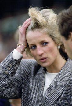 Princess Diana at the European Horse Trial Championships at Burghley, September 10, 1989.
