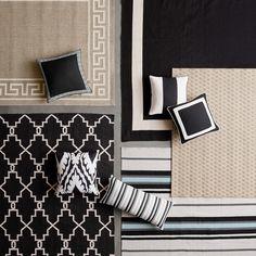 Strata Stripe Indoor/Outdoor Rug, Black #williamssonoma