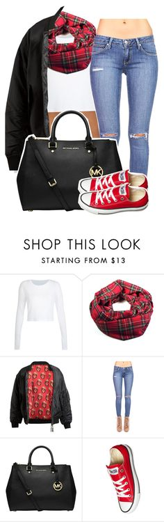 """""""the crying game"""" by queen-tiller ❤ liked on Polyvore featuring Abrahamsson, MICHAEL Michael Kors and Converse"""