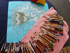 This is not my piece but I have been making bobbin lace for 12 year's now.  It is the most rewarding hobby.