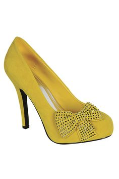 golden Island Carrie-707 Pumps In Yellow - Beyond the Rack
