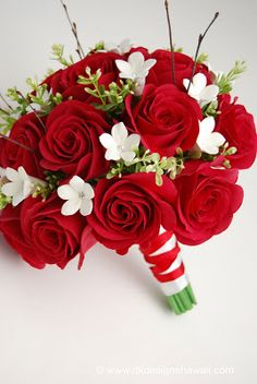 DK Designs: Red & White Bouquet Order