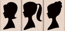 Hero Arts Wood Mounted Rubber Stamp Set - Three Silhouettes