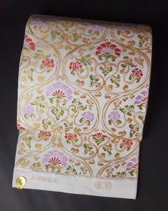 たつむら 高級本袋帯(六通柄) 立涌料紙文 アイボリー