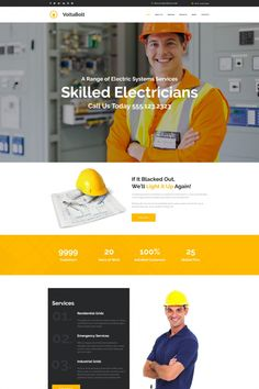 Lighting & Electricity Responsive Moto CMS 3 Template #65092