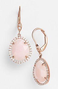 Diamond Bezel Pink Opal Drops http://rstyle.me/n/wqnnin2bn