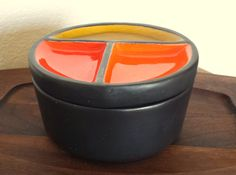 Vintage Braytons Laguna Beach California Pottery Mid Century Retro Container With Lid Mid Mod by ThatOneThing on Etsy