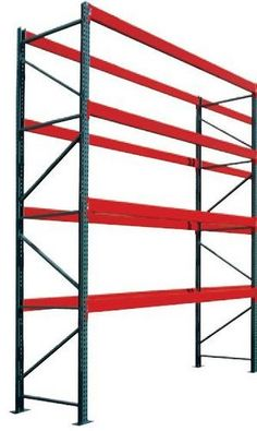 """Pallet Rack 2 Regular Duty Uprights 8' x 3.0' Assembled & 6 Regular Duty Beams 4.0"""" x 8 by Jaken. $491.26. Uprights Featuring a 3"""" x 3"""" standard column design and 5"""" x 8"""" base plate.Regular duty uprights are constructed of 16 gauge steel with a 16,100 lbs. capacity. Heavy duty uprights feature 14 gauge steel construction with a capacity of 23,300 lbs. (regular and heavy duty capacities based upon 36"""" maximum shelf spacing). Uprights utilize a bolt together design fo..."""