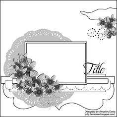 "ScrapThat! March Sketch {ScrapThat! March ""New Blooms"" Kit} - Scrapbook.com"