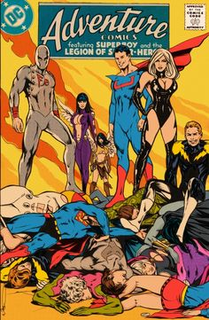 Adventure Comics #4: The ongoing adventures of the Legion of Super-heroes, colored Comic Art