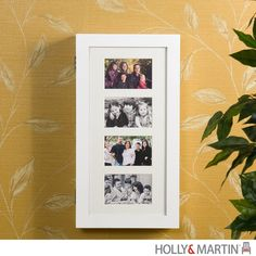 Holly & Martin Stella Photo Display Wall-Mount Jewelry Armoire-White|yourstylefurnishings.com