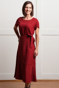 Modest Red Dress | $33.99 #sistermissionarydress #sistermissionaryclothing #modestdresses