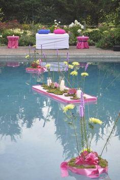 Great idea for pool decor!