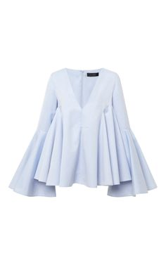 Ellery Pale Blue Lolita Top by Ellery - Moda Operandi Burda Top 03/2014 #119 Burda Top 02/2014 #111