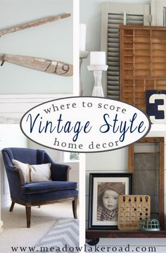 Where to find vintage style home decor with tips for treasure hunting - www.meadowlakeroad.com #vintagehomedecor #vintagestyle #vintageaccessories