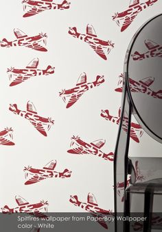 Spitfires wallpaper from PaperBoy Wallpaper in White
