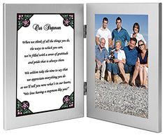 Stepmom Birthday or Christmas Gift  Touching Poem for Stepmother From 2 or More in 4x6 Double Frame -- This is an Amazon Affiliate link. See this great product.
