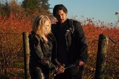 """The 100 — """"The Old Man and the Anomaly"""" — Image Number: — Pictured (L-R): Eliza Taylor as Clarke and Bob Morley as Bellamy — Photo: Shane Harvey/The CW — © 2019 The CW Network, LLC. All rights reserved. Bellarke, The 100 Characters, 20 Tv, Tv Ratings, The Goldbergs, The 100 Show, Bob Morley, Eliza Taylor, We Meet Again"""
