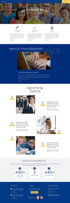 school #web #design #mockup #ideas #webdesig #professional #website ...