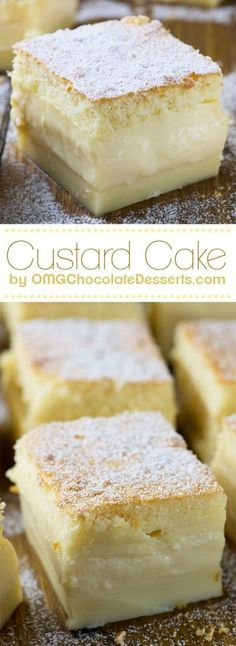 Vanilla Magic Custard Cake Recipe plus 24 more of the most pinned cake recipes
