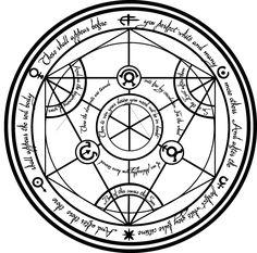 Transmutation Circle by KoalaExe on DeviantArt Kopf Tattoo, Magic Symbols, Fullmetal Alchemist Brotherhood, Magic Circle, Symbolic Tattoos, Body Art Tattoos, Tatoos, Compass Tattoo, Alchemy