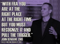 #FRAFinancialGroup CMO John Benham explains why #FRA is the right company at the right time.