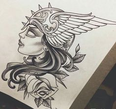valkyrie image Valkerie Tattoo, Forarm Tattoos, Leg Tattoos, Black Tattoos, Body Art Tattoos, Tattoos For Guys, Norse Mythology Tattoo, Greek Mythology Tattoos, Norse Tattoo