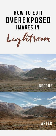 How to Edit Overexposed Images in Lightroom Landscape Photography Tips, Photography Lessons, Photoshop Photography, Photography Tutorials, Digital Photography, Amazing Photography, Free Photography, Photography Business, Photography Tips Iphone