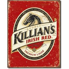 Decorate your pub room, bar or party room with bar wall decorations including tin signs, neon clocks and vintage beer signs. Ideas for great looking retro bar wall decor. Vintage Beer Signs, Sous Bock, Irish Beer, Irish Whiskey, Pub Signs, Beer Coasters, Vintage Design, Retro Vintage, Vintage Logos